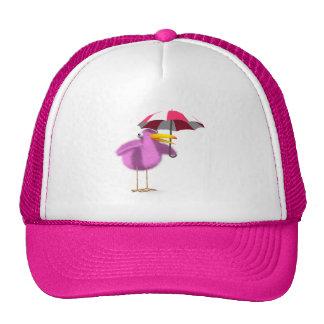 3d Pink Bird Umbrella Cap