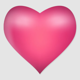 3D Pink Love Heart Heart Sticker