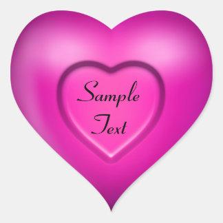 3D Pink Heart Stickers