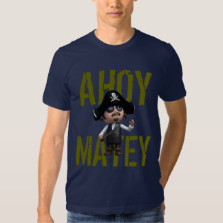 """3d Pirate calls out """"Ahoy matey"""" Tshirts"""