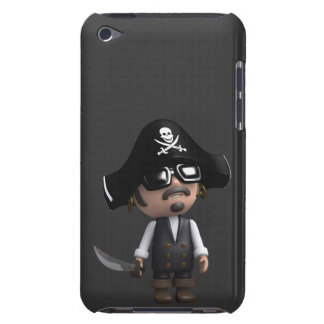 3d Pirate sunglasses iPod Touch Case-Mate Case