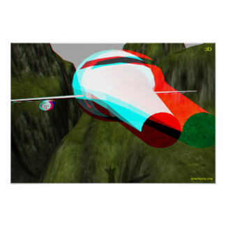 3D Plane Hollywood Tours IN 3D Poster