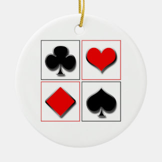 3D playing card suits Christmas Ornament