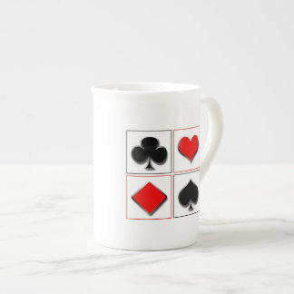 3D playing card suits Porcelain Mugs
