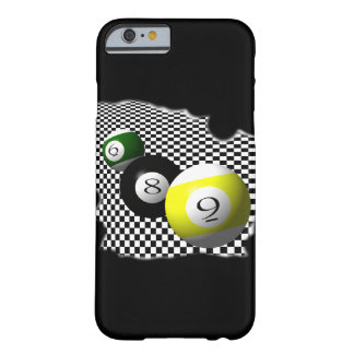 3D Pool Balls Psychobabble Splash Barely There iPhone 6 Case