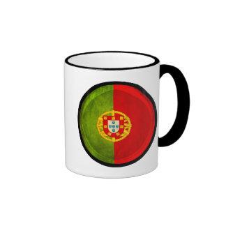 3D Portugal flag Ringer Mug