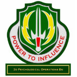 3d Psychological Operations Battalion DUI Acrylic Cut Outs