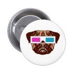 3D Pug Badge