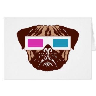 3D Pug Greeting Card