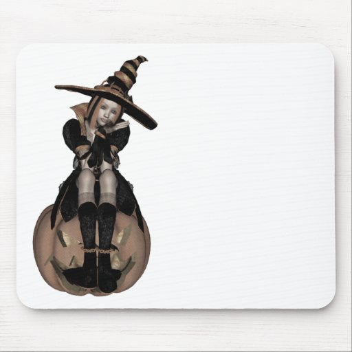 3D PUNK PUMPKIN GIRL - EARLY COLOR HALFTONE MOUSEPAD