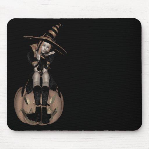 3D PUNK PUMPKIN GIRL - EARLY COLOR HALFTONE MOUSEPADS