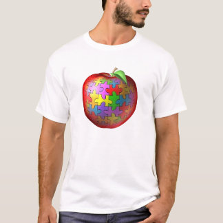 3D Puzzle Apple T-Shirt