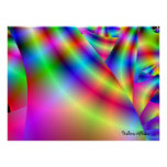 3d rainbow accent wall art by Halima Ahkdar