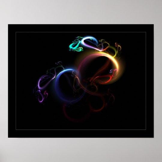 3D Rainbow Poster