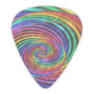 3D Rainbow Spiral Guitar Pick