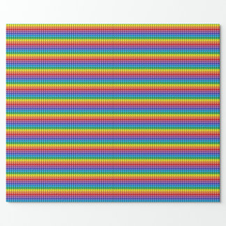 3d Rainbow steps Wrapping Paper