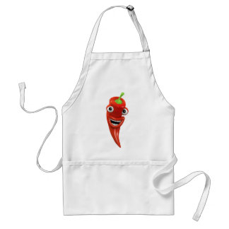 3d Red Chilli Pepper Laughs! (Any Color U Like!) Standard Apron