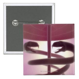 3d rendered medical caduceus 15 cm square badge