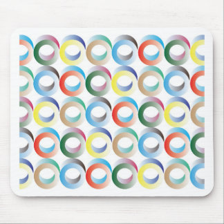 3D Ring Pattern Mouse Pad