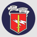 3d RRU 1 Round Stickers