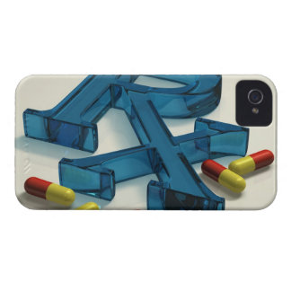 3D RX symbol with capsules iPhone 4 Covers