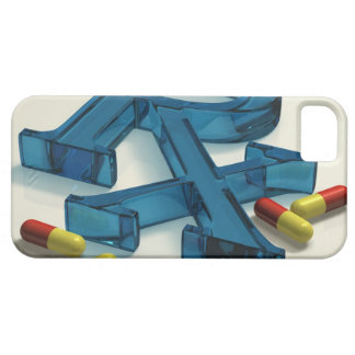 3D RX symbol with capsules iPhone 5 Cases