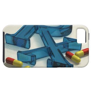 3D RX symbol with capsules Tough iPhone 5 Case