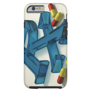 3D RX symbol with capsules Tough iPhone 6 Case