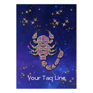 3D Scorpio - Zodiac Sign - Astrological Sign Pack Of Chubby Business Cards