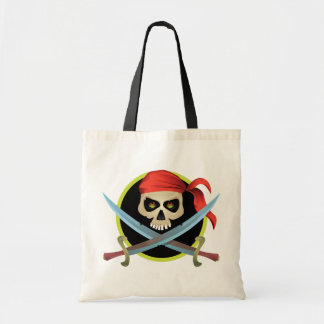 3D Skull and Crossbones Budget Tote Bag