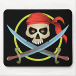 3D Skull and Crossbones Mouse Pad