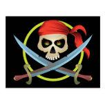3D Skull and Crossbones Post Card