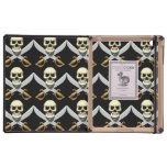 3D Skull and Crossed Swords iPad Cover