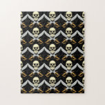3D Skull and Crossed Swords Puzzle