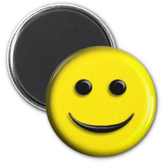 3D Smiley 6 Cm Round Magnet
