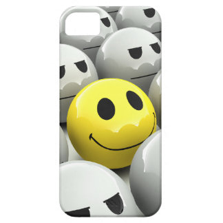 3d Smiley Grey March iPhone 5 Case