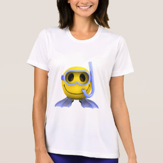 3d Smiley Scuba diver T-Shirt