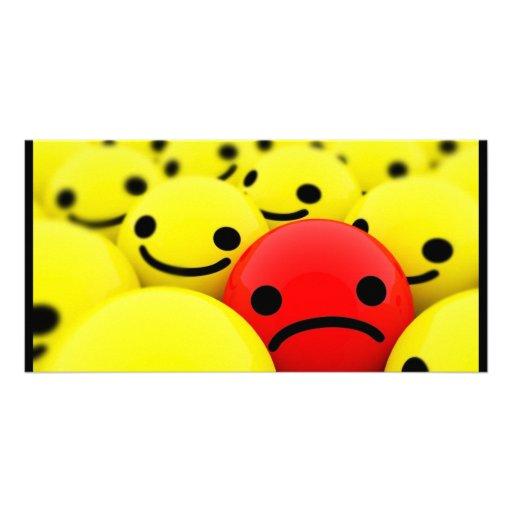 3D Smileys Photo Card Template