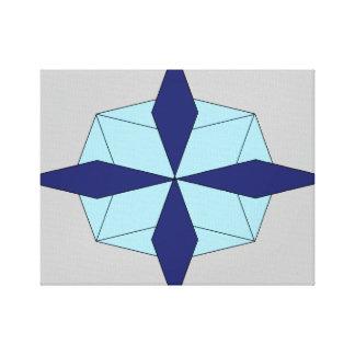 3D Snowflake Canvas Print