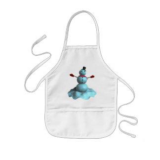 3D Snowman Kids Apron