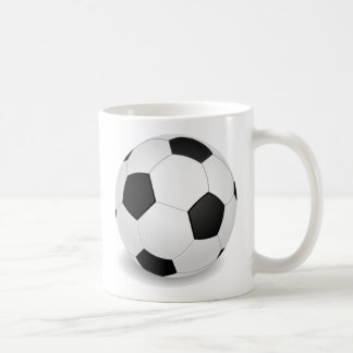 3D Soccer Ball Coffee Mug