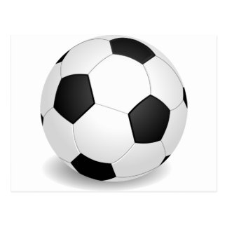 3D Soccer Ball Postcard