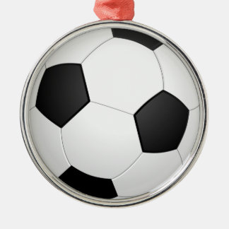 3D Soccer Ball Silver-Colored Round Decoration