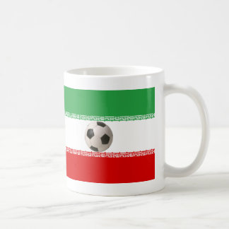 3D soccer ball with Iranian flag Mugs