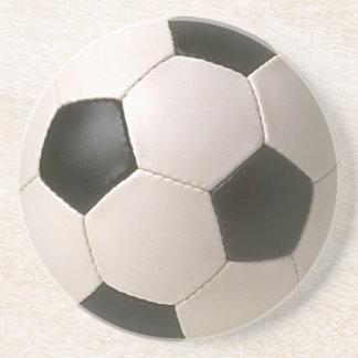 3D Soccerball Black White Football Coaster