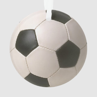 3D Soccerball Black White Football Ornament