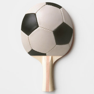 3D Soccerball Black White Football Ping Pong Paddle