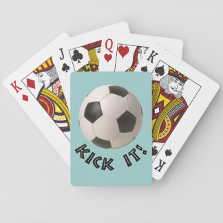 3D Soccerball Sport Kick It Playing Cards