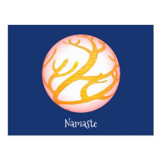 3D Sphere Namaste Postcard