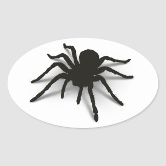 3D Spider Oval Sticker